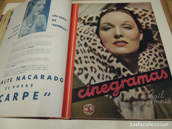 TOMO 31 REVISTAS CINE CINEGRAMAS ENCUADERNADAS AÑO 1935 1936 MUY BUEN ESTADO (Cine - Revistas - Cinegramas)