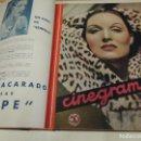 Cine: TOMO 31 REVISTAS CINE CINEGRAMAS ENCUADERNADAS AÑO 1935 1936 MUY BUEN ESTADO. Lote 65751722