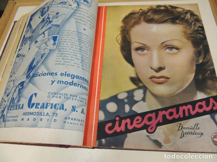 Cine: Tomo 31 revistas cine cinegramas encuadernadas año 1935 1936 muy buen estado - Foto 2 - 65751722