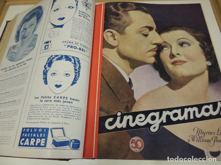 Cine: Tomo 31 revistas cine cinegramas encuadernadas año 1935 1936 muy buen estado - Foto 3 - 65751722