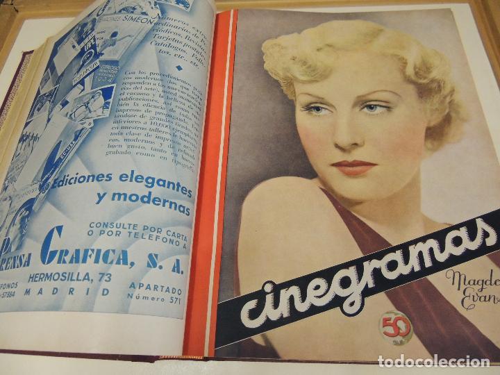 Cine: Tomo 31 revistas cine cinegramas encuadernadas año 1935 1936 muy buen estado - Foto 4 - 65751722