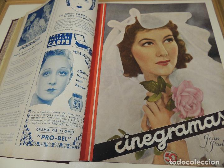 Cine: Tomo 31 revistas cine cinegramas encuadernadas año 1935 1936 muy buen estado - Foto 5 - 65751722