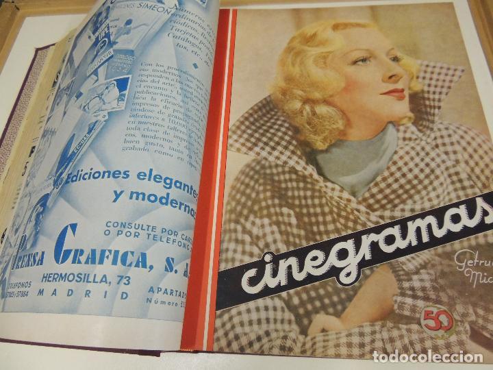 Cine: Tomo 31 revistas cine cinegramas encuadernadas año 1935 1936 muy buen estado - Foto 6 - 65751722