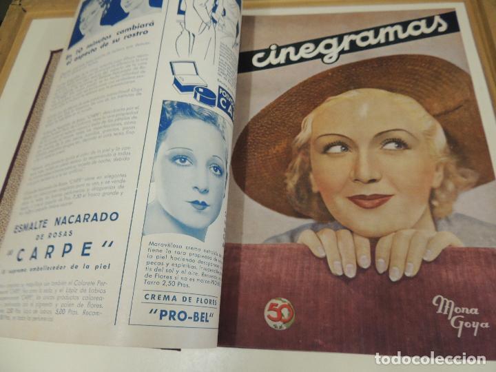 Cine: Tomo 31 revistas cine cinegramas encuadernadas año 1935 1936 muy buen estado - Foto 7 - 65751722