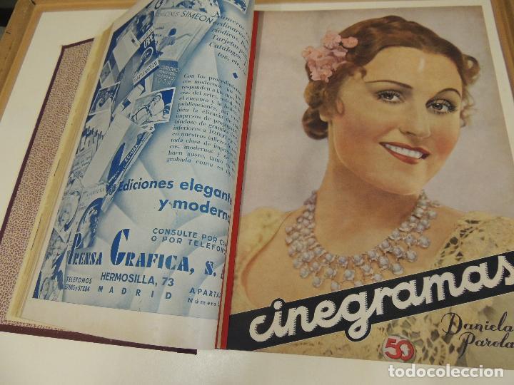 Cine: Tomo 31 revistas cine cinegramas encuadernadas año 1935 1936 muy buen estado - Foto 8 - 65751722