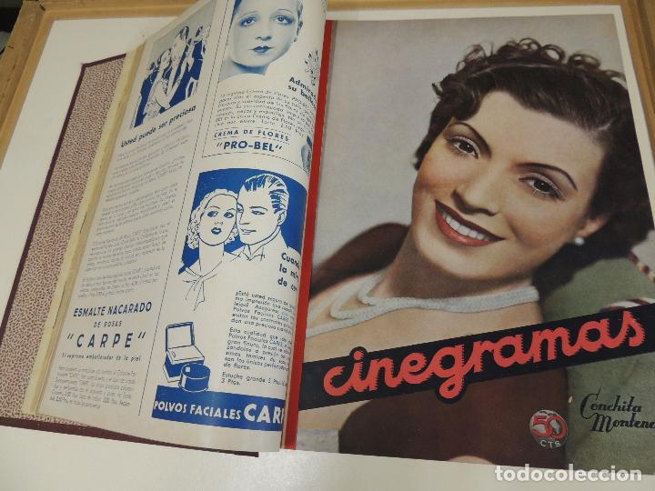 Cine: Tomo 31 revistas cine cinegramas encuadernadas año 1935 1936 muy buen estado - Foto 9 - 65751722
