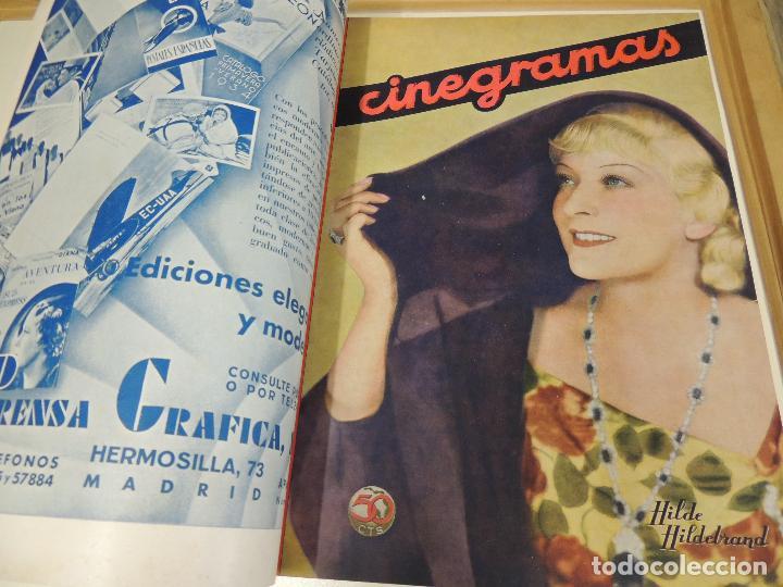 Cine: Tomo 31 revistas cine cinegramas encuadernadas año 1935 1936 muy buen estado - Foto 10 - 65751722