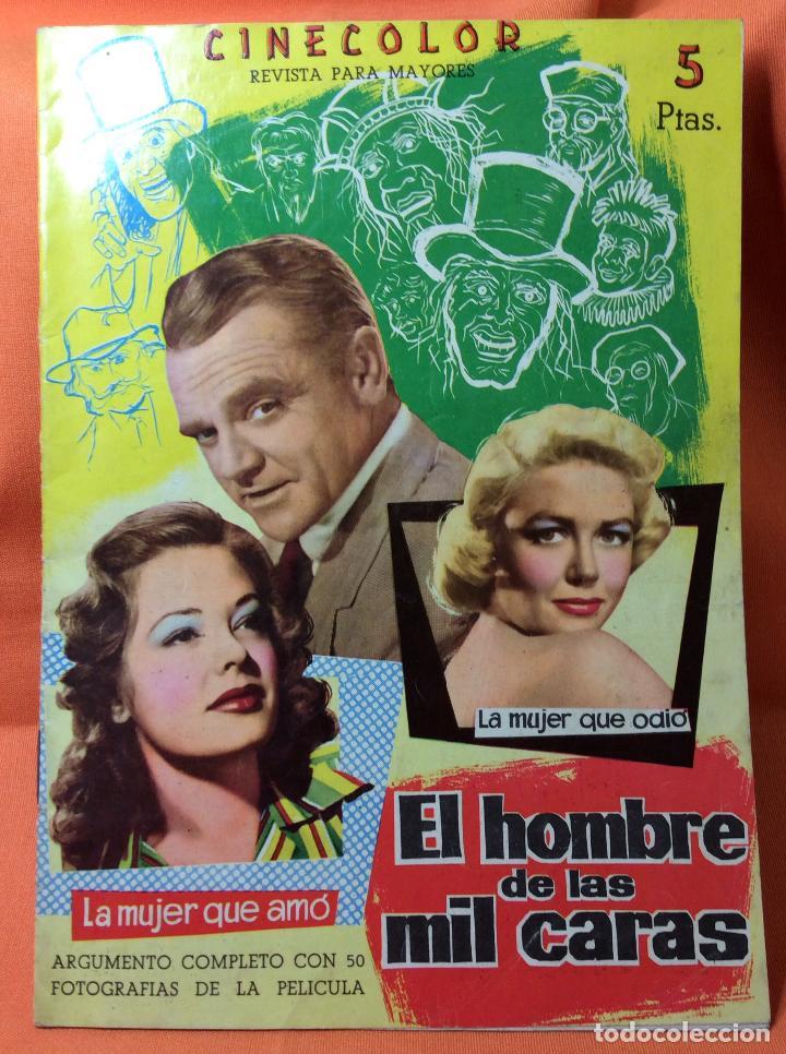 REVISTA CINECOLOR DE LA PELÍCULA EL HOMBRE DE LAS MIL CARAS (Cine - Revistas - Cinecolor)