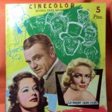 Cine: REVISTA CINECOLOR DE LA PELÍCULA EL HOMBRE DE LAS MIL CARAS. Lote 65839594