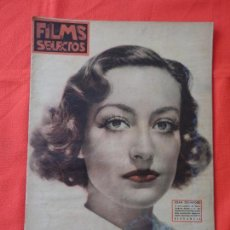 Cine: FILMS SELECTOS, LOTE 4 REVISTAS 1936, JOAN CRAWFORD, GINGER ROGERS,ANITA LOUISE Y SHIRLEY TEMPLE. Lote 66012330