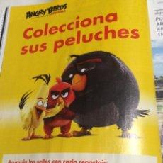 Cine: PUBLICIDAD EN PRENSA DE PELÍCULA ANGRY BIRDS Y SHELL. ENMARCABLE.. Lote 66160458