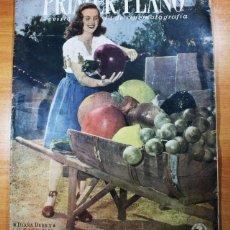 Cine: PRIMER PLANO, REVISTA ESPAÑOLA DE CINEMATOGRAFIA Nº 312 1946, DIANA DURBIN,CANTINFLAS EN ESPAÑA. Lote 66930826
