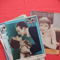 Cine: FILMS SELECTOS LOTE 9 REVISTAS AÑO 1931. Lote 67043398