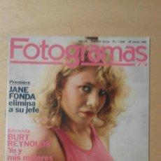 Cine: .1 REVISTA DE ** NUEVO FOTOGRAMAS JANE FONDA. CECILIA ROTH. BRANDO...** Nº 1649 MARZO 1981 -. Lote 294155518