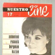 Cine: NUESTRO CINE. Nº 17. 1963 ANTONIONI, BERGMAN, KAZAN, MELIES, STROHEIM. Lote 67170765