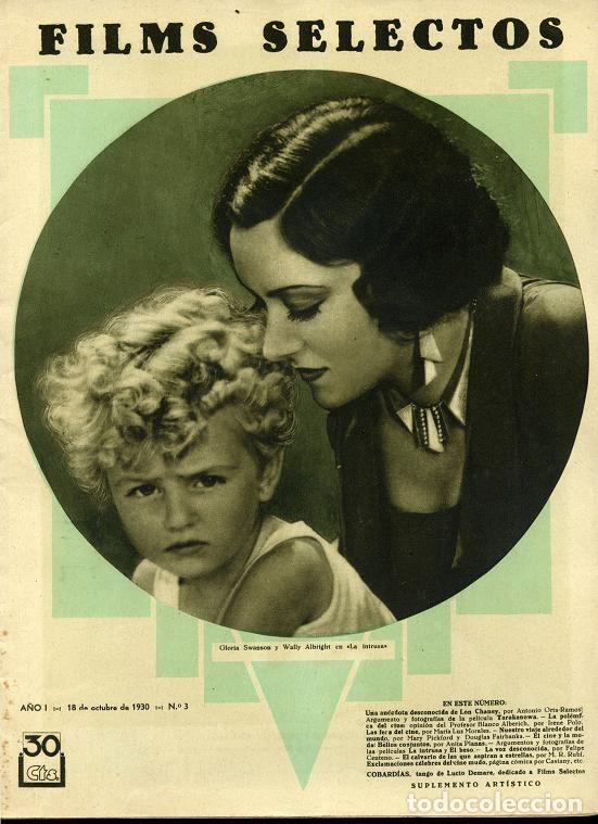 FILMS SELECTOS REVISTA DE CINE DEL Nº 1 AL 300, AÑO 1930 A 1936 FALTA EL Nº 294 ... RR (Cine - Revistas - Films selectos)