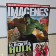 Cine: REVISTA DE CINE IMAGENES DE ACTUALIDAD Nº 281 JUNIO 2008. EL INCREIBLE HULK.. Lote 67325141