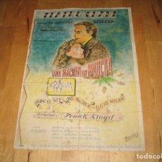 Cinema: ENTRADAS CINE CARTEL UNA NACIÓN EN MARCHA TEATRO CHAPI VILLENA ALICANTE ESTRENO PRECIOSO CARTEL. Lote 32216839