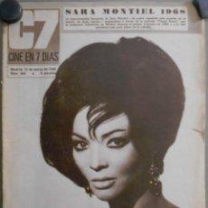Cine: XG16 SARA MONTIEL REVISTA ESPAÑOLA C7 CINE EN 7 DIAS MARZO 1968. Lote 67523289