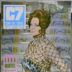 Cine: XG38 SARA MONTIEL REVISTA ESPAÑOLA CINE EN 7 DIAS FEBRERO 1969. Lote 67595893