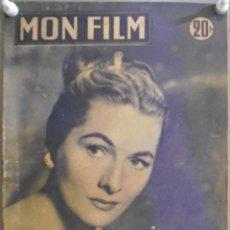 Cine: XG47 JOAN FONTAINE SARA MONTIEL DOS PASIONES Y UN AMOR REVISTA FRANCESA MON FILM JULIO 1957. Lote 67598621