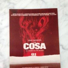 Cine: REPRODUCCIÓN FOTOGRÁFICA - CARTEL - LA COSA (EL ENIGMA DE OTRO MUNDO) - JOHN CARPENTER. Lote 121952131