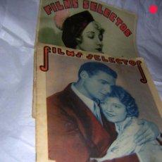Cine: FILMS SELECTOS, DE 1931, 2 REVISTAS LA Nº 17 Y Nº 26 DEL II AÑO, JOSEPHINE DUNN Y. Lote 68620185