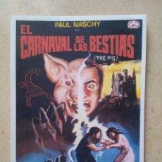 Cinema: REPRODUCCION 9*13 - EL CARNAVAL DE LAS BESTIAS - PAUL NASCHY - TERROR. Lote 68884081