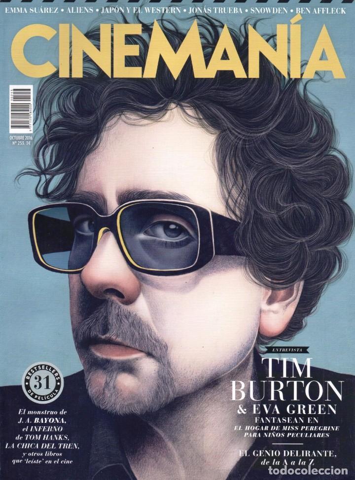 CINEMANIA N. 253 OCTUBRE 2016 - EN PORTADA: TIM BURTON (NUEVA) (Cine - Revistas - Cinemanía)