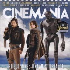 Cine: CINEMANIA N. 255 DICIEMBRE 2016 - EN PORTADA: STAR WARS, ROGUE ONE (NUEVA). Lote 121957434