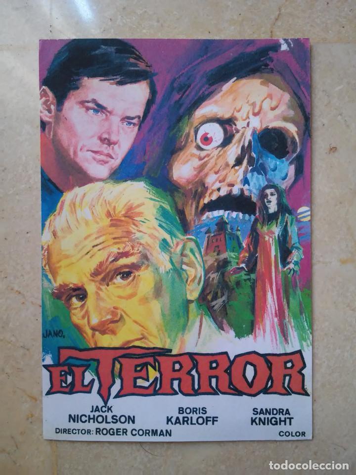 REPRODUCCION 9*13 - EL TERROR - JACK NICHOLSON - TERROR - BORIS KARLOFF - ROGER CORMAN (Cine - Reproducciones de carteles, folletos...)