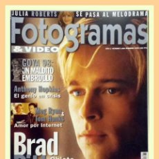 Cine: REVISTA FOTOGRAMAS NUM. 1864 . BRAD PITT, ANTHONY HOPKINS, MEG RYAN, TOM HANKS, JULIA ROBERTS. Lote 69005465