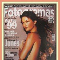 Cine: REVISTA FOTOGRAMAS NUM. 1875, ENERO 2000. CATHERINE ZETA JONES, CRISTINA RICCI, JOHNNY DEPP, ETC.. Lote 69006573