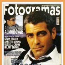 Cine: REVISTA FOTOGRAMAS NUM. 1878, ABRIL 2000. GEORGE CLOONEY, P. ALMODOVAR, KEVIN SPACEY, RUSSELL CROWE. Lote 69007249