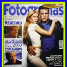 Cine: REVISTA FOTOGRAMAS NUM. 1888, FEBRERO 2001. BEN AFFLECK, GWYNETH PALTROW, ROBERT REDFORD, TOM HANKS. Lote 69008133
