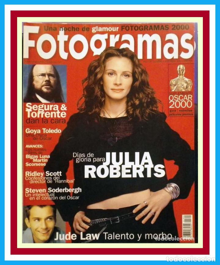 REVISTA FOTOGRAMAS NUM. 1890, ABRIL 2001. JULIA ROBERTS, JUDE LAW, SEGURA & TORRENTE, GOYA TOLEDO (Cine - Revistas - Fotogramas)