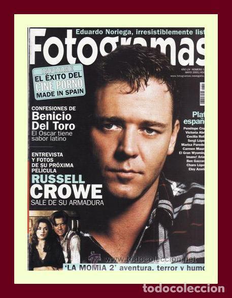 REVISTA FOTOGRAMAS NUM. 1891, MAYO 2001. RUSSELL CROWE, BENICIO DEL TORO, EDUARDO NORIEGA, ETC. (Cine - Revistas - Fotogramas)
