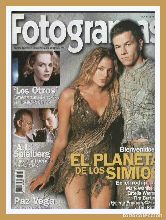 REVISTA FOTOGRAMAS NUM. 1895, SEPTIEMBRE 2001. MARK WAHLBERG, TIM BURTON, NICOLE KIDMAN, ETC. (Cine - Revistas - Fotogramas)