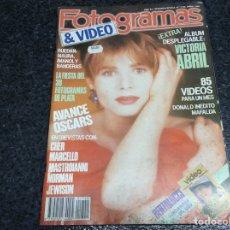 Cinema: FOTOGRAMAS Nº 1740 AÑO 1988. - VICTORIA ABRIL. CHER.. Lote 70059049