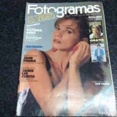 Cine: FOTOGRAMAS 1755, 1989 BATMAN, LAURENCE OLIVER, VICTORIA ABRIL, DESPLEGABLE JANE FONDA, JODIE FOSTER. Lote 195414415
