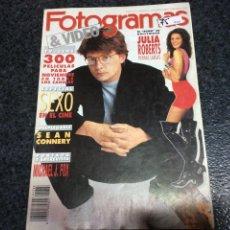 Cine: FOTOGRAMAS Nº 1768 AÑO 1990. PORTADA: MICHAEL J. FOX. SEAN CONNERY. JULIA ROBERTS.. Lote 70060525