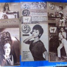 Cine: LOTE DE 10 REVISTAS C7 CINE EN 7 DÍAS, 1962 - 1968.. Lote 70067225