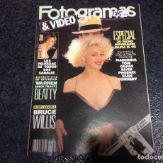 Cine: FOTOGRAMAS Nº 1766 AÑO 1990 MADONNA, JODIE FOSTER, BRUCE WILLIS. Lote 70086033
