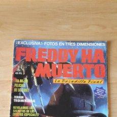 Cine: REVISTA FREDDY HA MUERTO -- FREDDY KRUEGER - ELM STREET (TODA LA REVISTA ESTÁ DEDICADA A FREDDY). Lote 70285949