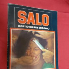 Cine: SALO O LOS 120 DIAS DE SODOMA. PASOLINI. EDITA MIRASIERRA 1977.. Lote 71092333