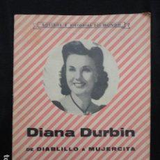 Cine: REVISTA ROSTROS E HISTORIAS DEL MUNDO DIANA DURBIN. AÑOS 30.. Lote 71983495