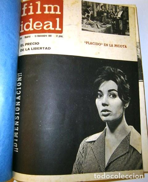 Cine: 3 Tomos con revistas variadas encuadernadas Film Ideal en Madrid 1961 / 1964 - Foto 2 - 72169367