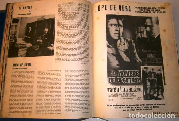 Cine: 3 Tomos con revistas variadas encuadernadas Film Ideal en Madrid 1961 / 1964 - Foto 6 - 72169367