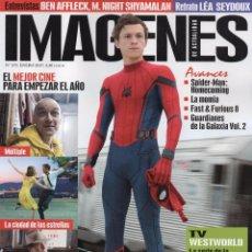 Cine: IMAGENES DE ACTUALIDAD N. 375 ENERO 2017 - EN PORTADA: SPIDERMAN, HOMECOMING (NUEVA). Lote 72274959