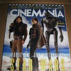 Cine: REVISTA CINEMANIA Nº255 (EN PORTADA:ROGUE ONE.STAR WARS) LEER DESCRIPCION. Lote 72677711
